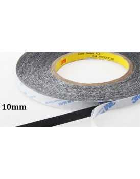 [10mm-50m] Double Sided Adhesive Tape (Black) Sticker for Mobile Phone